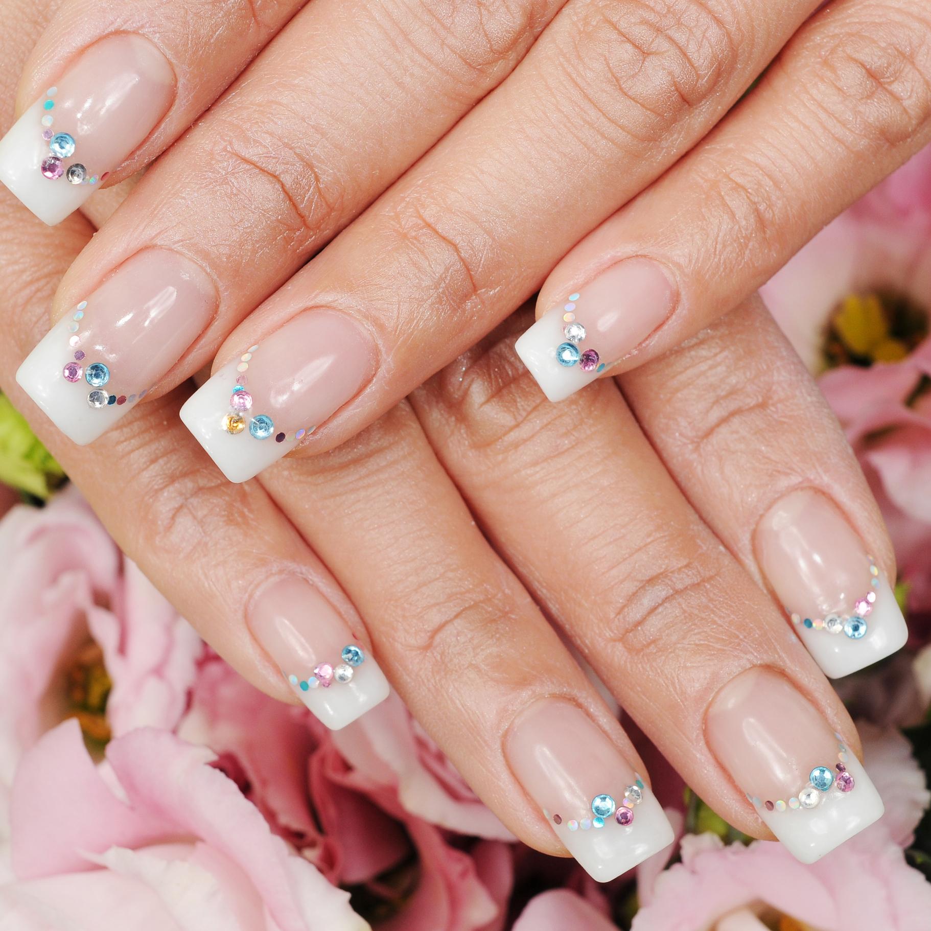 Pink & White Powder Nails